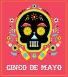 Cinco de Mayo mexicansk fiesta, ferieaffisch, partireklamblad, hälsningkort vektor illustrationer