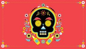 Cinco de Mayo mexicansk fiesta, ferieaffisch, partireklamblad, hälsningkort royaltyfri illustrationer