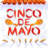 Cinco de Mayo Moustache stock illustrationer