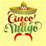 Cinco de Mayo Moustache Στοκ φωτογραφίες με δικαίωμα ελεύθερης χρήσης