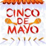 Cinco de Mayo Moustache stock illustration