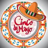 Cinco de Mayo-ontwerp met Mexicaanse hoed