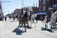 Cinco De Mayo Parade Chicago 2017. Chicago, Illinois, USA - May 07, 2017, The Cinco De Mayo Parade is held to remember the victory the Mexican forces had over Stock Photo
