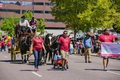 Cinco de Mayo Parade famoso imágenes de archivo libres de regalías