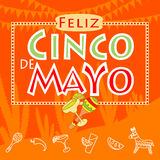 Cinco de mayo parti stock illustrationer