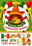 Cinco de Mayo-partijuitnodiging van Mexicaanse vakantie