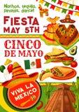 Cinco de Mayo-partijuitnodiging voor Mexicaanse vakantie