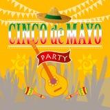 Cinco de mayo party royalty free illustration
