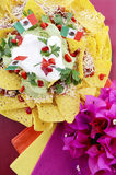 Cinco de Mayo party table with nachos Royalty Free Stock Photo