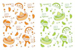 Cinco de Mayo Pattern Stock Photo