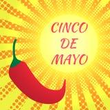 Cinco DE Mayo pop-artstijl Geel gloeien