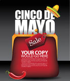 Cinco De Mayo purse background EPS 10 vector. Royalty free stock illustration for greeting card, ad, promotion, poster, flier, blog, article, social media Royalty Free Stock Photos