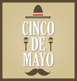 Cinco De Mayo retro poster Royalty Free Stock Photography