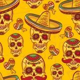 Cinco de Mayo Seamless Pattern Immagini Stock Libere da Diritti