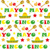 Cinco de Mayo seamless pattern. Mexican holiday endless background, texture. Vector illustration. Stock Images
