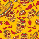 Cinco de Mayo Seamless Pattern Royalty Free Stock Photos