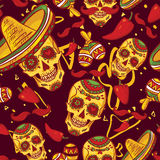 Cinco de Mayo Seamless Pattern Stock Photography