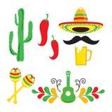 Cinco De Mayo. Set of holiday elements. vector illustration