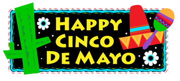 Cinco De Mayo Sign Photo stock