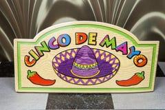 Cinco De Mayo. A sign to celebrate the Cinco De Mayo holiday Stock Photo