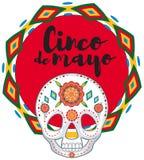 Cinco de Mayo with skull mask. Illustration