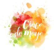 Cinco de Mayo splash blot Stock Image