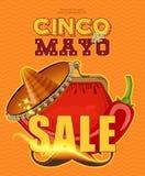 cinco de Mayo Sprzedaż plakat Fotografia Stock