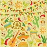 Cinco de Mayo tła elementy ilustracja wektor