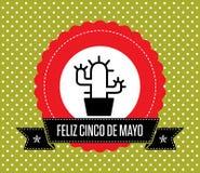 Cinco de Mayo - tarjeta de felicitación stock de ilustración