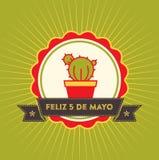 Cinco de Mayo - tarjeta de felicitación ilustración del vector