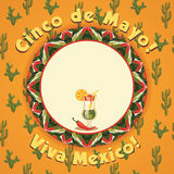 Cinco de Mayo. Vector background Royalty Free Stock Photography