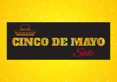 Cinco de mayo. Vector gorisontal greeting card, sale banner or poster  Royalty Free Stock Photos
