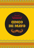 Cinco de mayo. Vector greeting card, banner or poster Royalty Free Stock Image