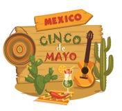Cinco DE Mayo Vector illustratie stock illustratie