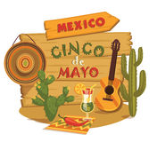 Cinco de Mayo. Vector illustration. Royalty Free Stock Images