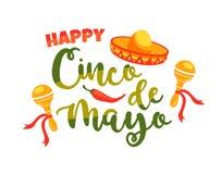 Cinco de Mayo. Vector illustration. Cinco de Mayo. Vector illustration with traditional Mexican symbols. Design element for poster, banner, flyer, card
