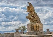 Cinco de Mayo Victory monument i Puebla, Mexico royaltyfri fotografi