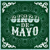Cinco de mayo - vintage mexican traditional holiday design Stock Images