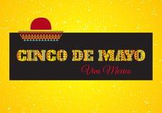 Cinco de mayo. Viva Mexico! Vector greeting card Stock Photos