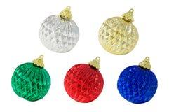 Cinco decorações do Natal Fotos de Stock