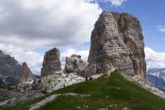 Cinco dedos Dolomiti Imagenes de archivo