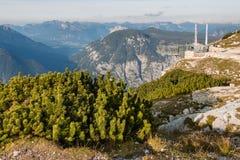 Cinco dedos que veem a plataforma em Hoher Dachstein Fotos de Stock Royalty Free