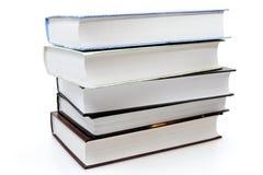 Cinco diversos libros Fotos de archivo libres de regalías