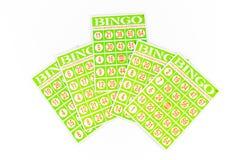 Cinco do cartão do bingo, o centro um obtiveram mais altamente Foto de Stock