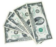 Cinco dois dólares de notas Imagens de Stock