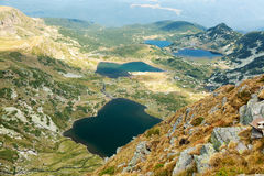Cinco dos sete lagos mountain de Rila Imagens de Stock