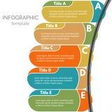 Cinco elementos infographic del diseño de los pasos Fotos de archivo libres de regalías