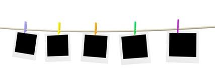 Cinco espaços em branco vazios da foto ilustração stock