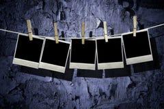 Cinco espaços em branco vazios do polaroid imagens de stock