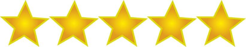Cinco estrelas Fotografia de Stock Royalty Free